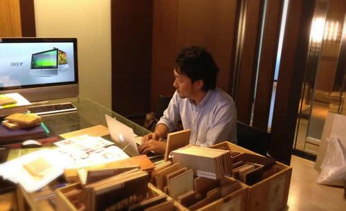 台湾設計会社+和想+私とのSKYPE3社会議