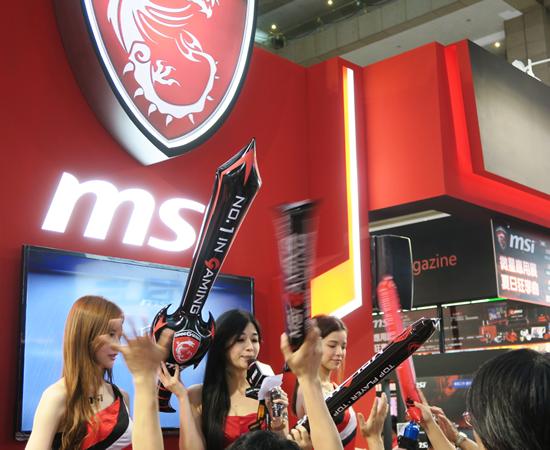 台湾の大手メーカーはどの企業も「ショーガール」を起用していました